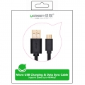 UGREEN 2.0A High Speed SYNC Micro USB cable 24k Gold-plated 0.5meter US125 10835- Black